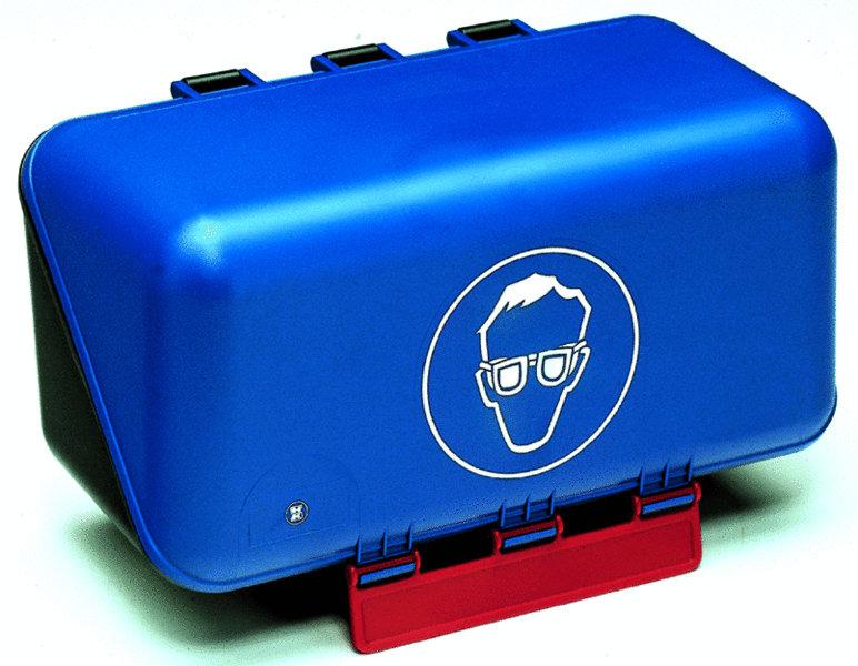 aufbewahrungsbox f r augenschutzbrillen blau auf rechnung. Black Bedroom Furniture Sets. Home Design Ideas