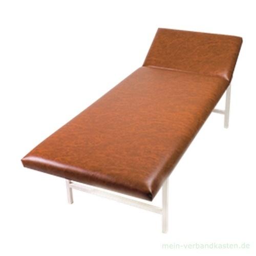 untersuchungsliege stahlrohr kopfteil verstellbar braun. Black Bedroom Furniture Sets. Home Design Ideas
