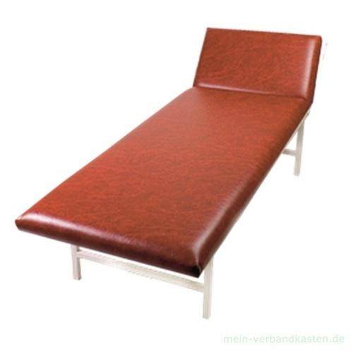 untersuchungsliege stahlrohr kopfteil verstellbar rot kaufen. Black Bedroom Furniture Sets. Home Design Ideas