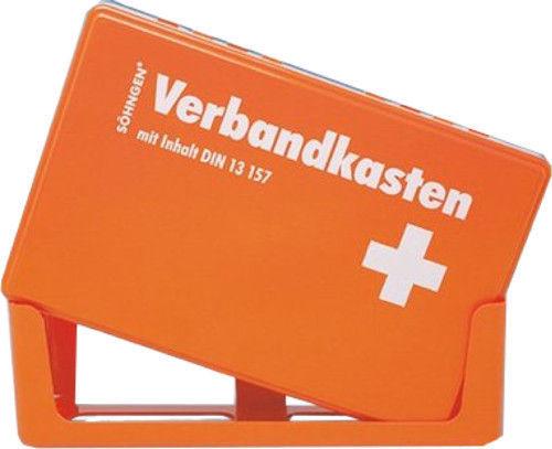 sterni1945 1 St/ück Betriebsverbandkasten Rot//Orange Inhalt nach DIN 13157 gem/ä/ß Arbeitsst/ätten Richtlinien Verbandskasten 1.Hilfe Verbandkasten mit Wandhalterung Verbandkasten