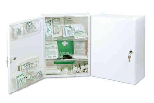 Verbandschrank CURA, gefüllt DIN 13157